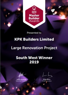 FMB awards certificate 2019