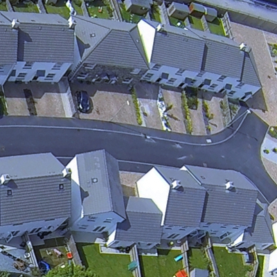 Aerial view part of Wentworth Close