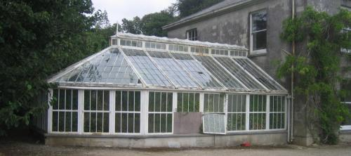 Burncoose House - Victorian Conservatory Before