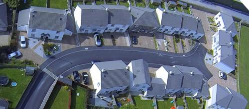 Aerial view of Wentworth Close